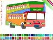 Jouer à Double decker bus coloring