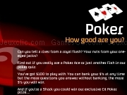 Jouer à Poker quiz : how good are you ?