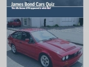 Jouer à James Bond cars quiz
