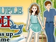 Jouer à Couple holiday dress up game